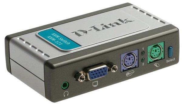 KVM-переключатель D-Link KVM-121 2-портовый KVM-переключатель