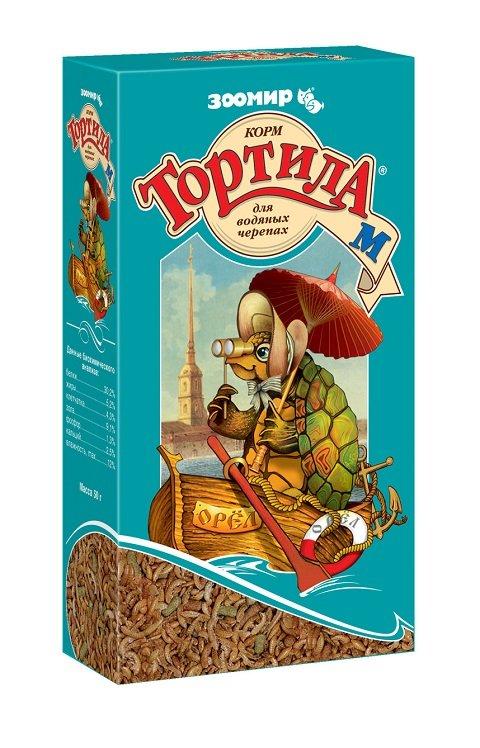 Корм «Тортила М» для водяных черепах, Зоомир New (50 гр)