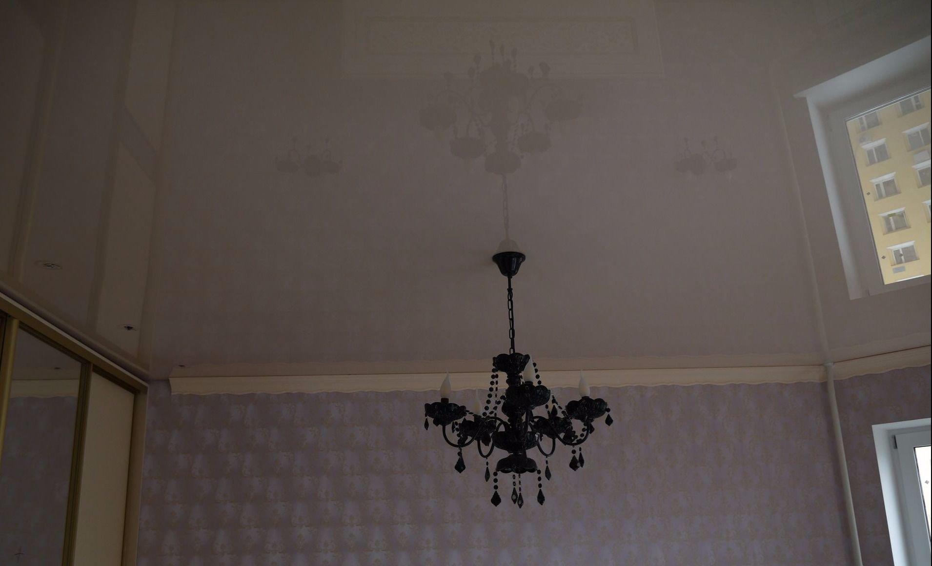Натяжные потолки для гостиной с установкой 1 м2 Pongs пвх
