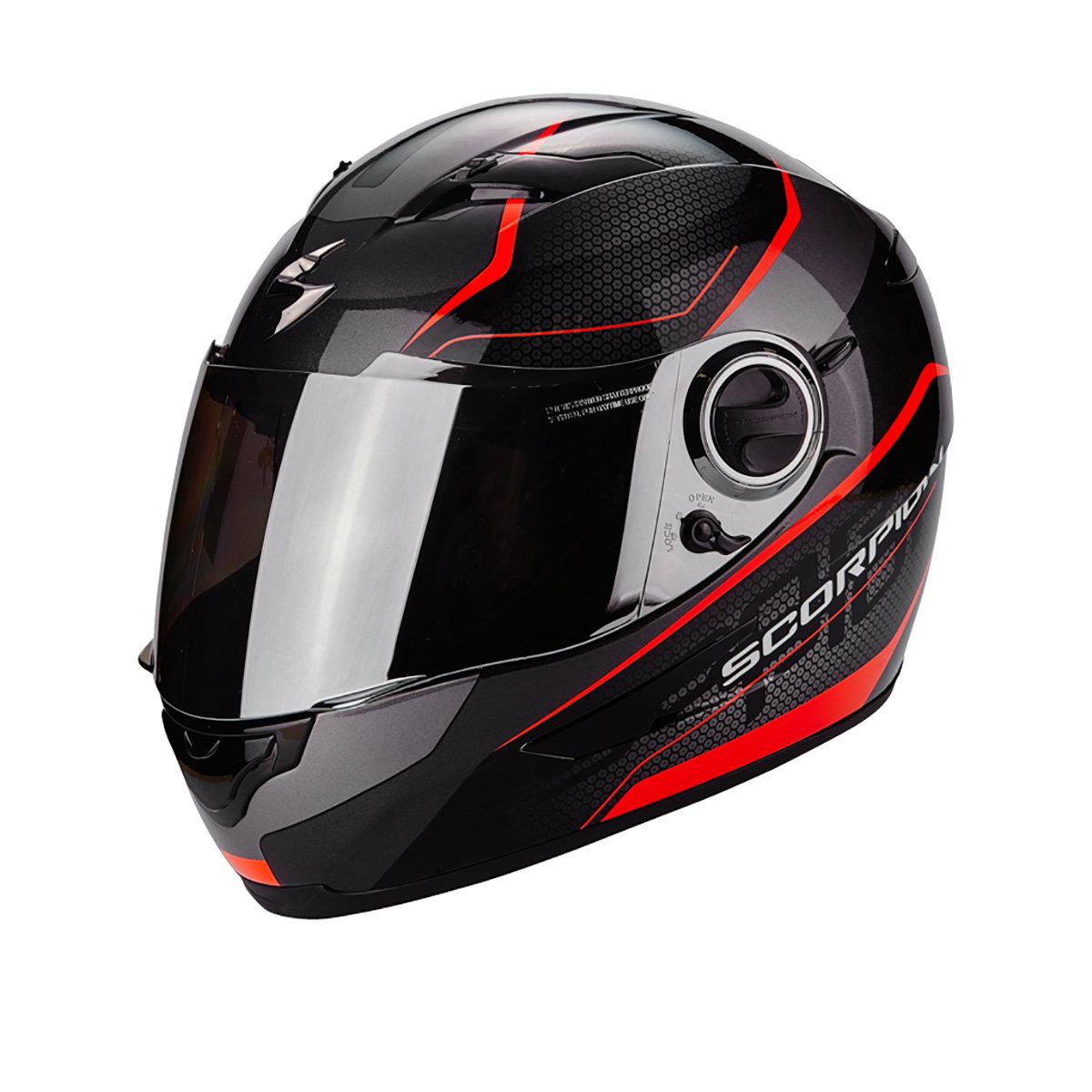 Scorpion Exo Мотошлем Exo-490 Vision, Цвет Черный/красный Неон