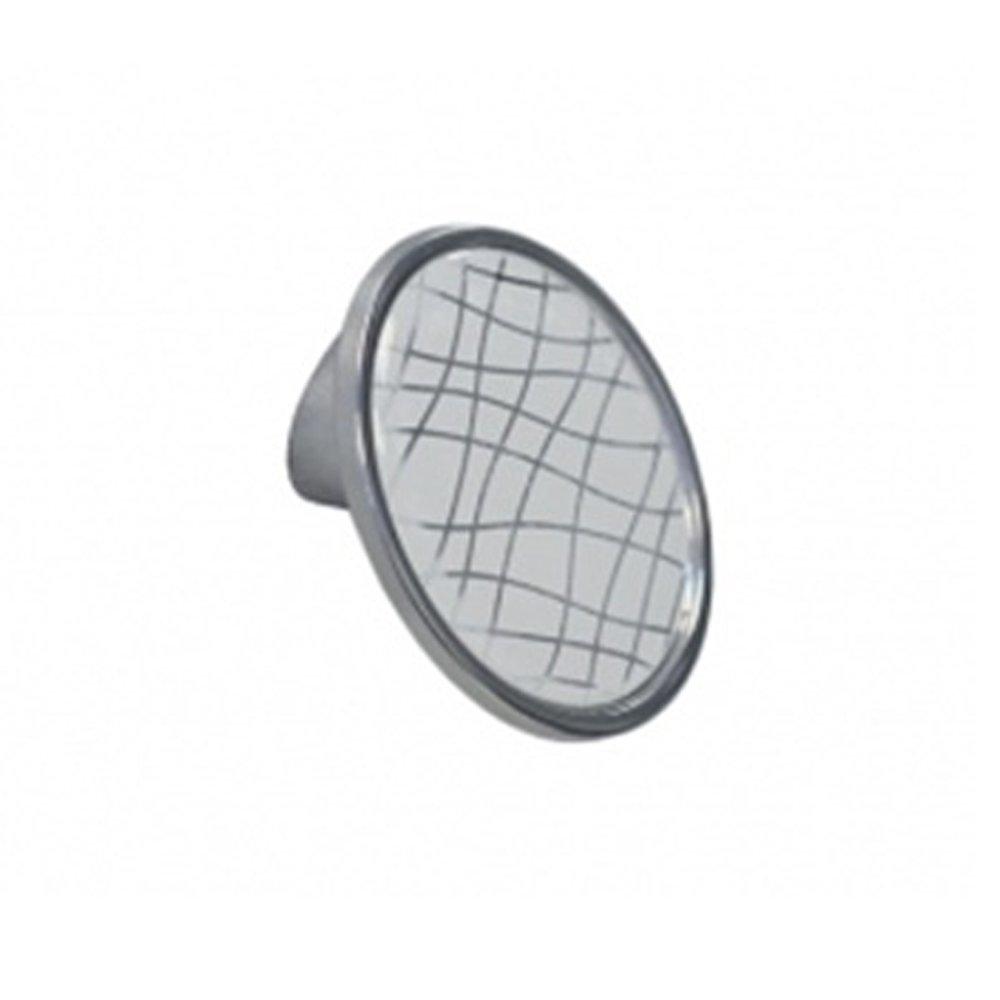 Мебельная ручка-кнопка 10.823.B40-109 Хром глянец / Вставка