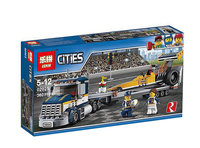 Конструктор Lepin серия Cities Грузовик для перевозки драгстера арт. 02025