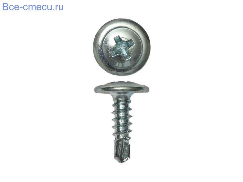 Саморезы с прессшайбой оцинкованные наконечник - сверло. (4,2*57 мм)