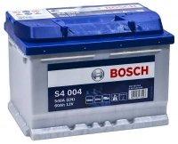 Аккумулятор автомобильный Bosch Silver S4004 60 А/ч 540 A обр. пол. низкий Евро авто (242x175x175)