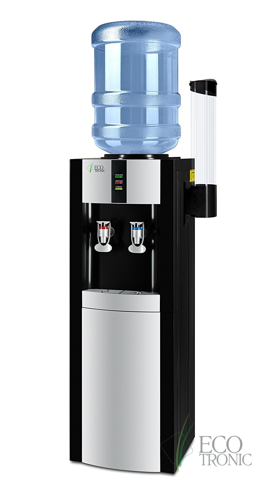 Кулер для воды Ecotronic H1-LE Black v.2 напольный