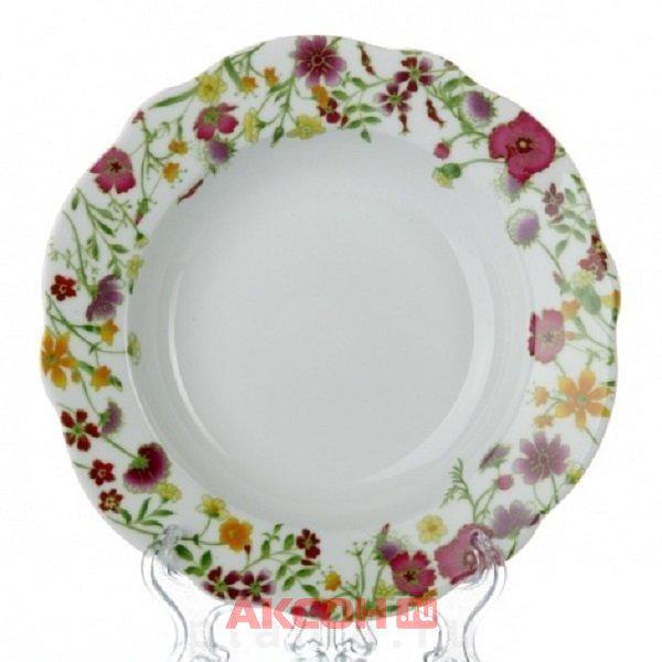 тарелка суповая 24см meadow dm9362
