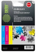 Заправка для ПЗК Cactus CS-RK-CL511 цветной (3x30мл) Canon MP240, MP250, MP260, MP270