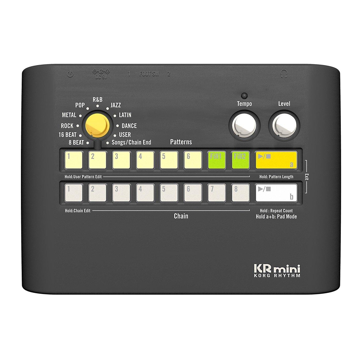 KORG KR-mini драм-машина, 60 ритмических рисунков, 120 сбивок.