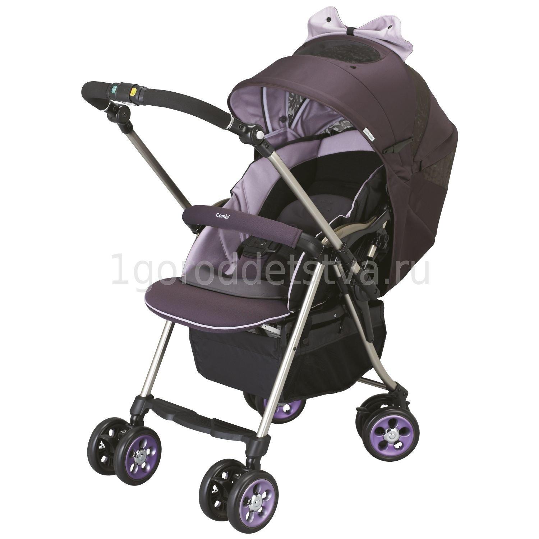 Прогулочная коляска Combi Miracle Turn Premier фиолетовая