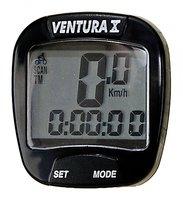 Велокомпьютер VENTURA Х, 10 функций черный