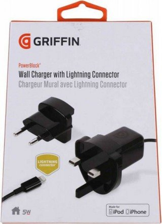 Аксессуар Griffin USB - Lightning 0.9m Blue GC39143-2