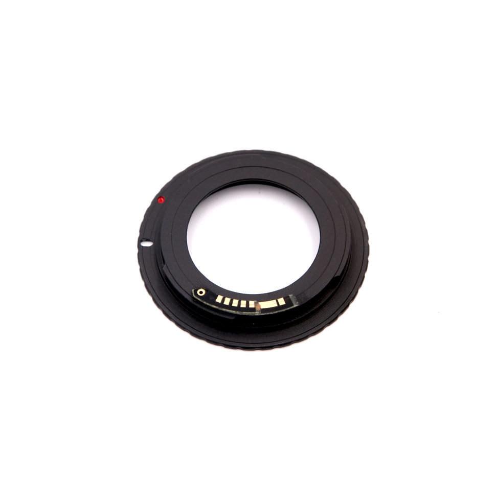 Переходное кольцо M42 на Canon c программируемым чипом (black)