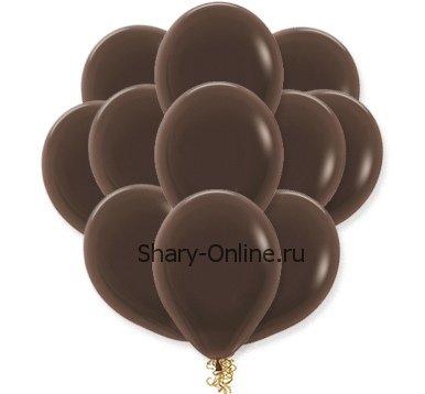 Воздушные шары с гелием «Шоколадный», пастель