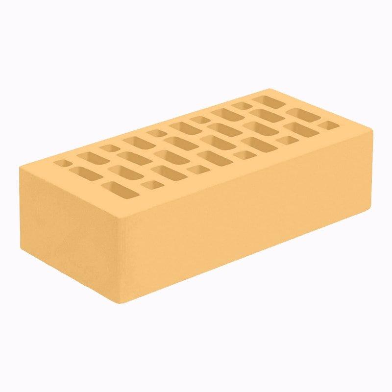 Голицынский облицовочный кирпич 1НФ желтый (янтарь) гладкий