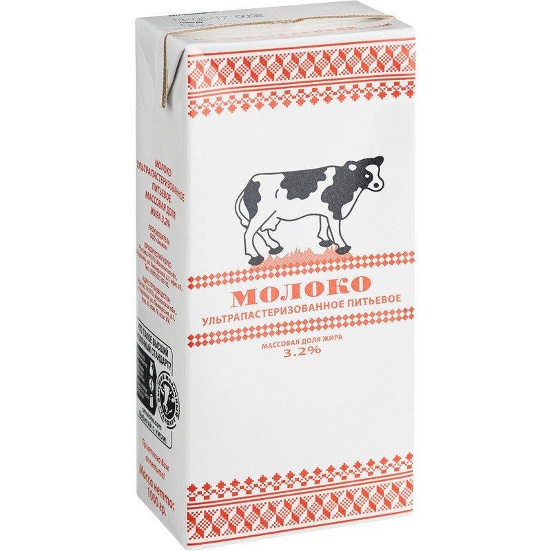 Молоко Экомол 3.2% ультрапастеризованное 973 мл