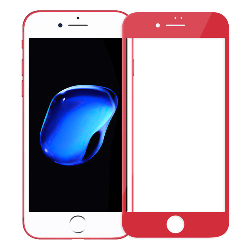 Защитное стекло Китай Защитное стекло 4D Tempered Glass для iPhone 7 (красный)