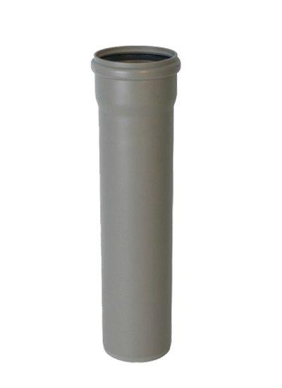 Труба Политэк 32 мм 1,8-250 мм внутренняя канализация с раструбом серая