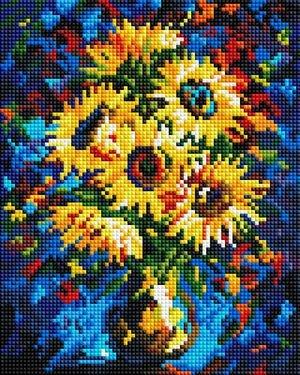 Картина мозаичная в пакете Ночные подсолнухи 30*20 см