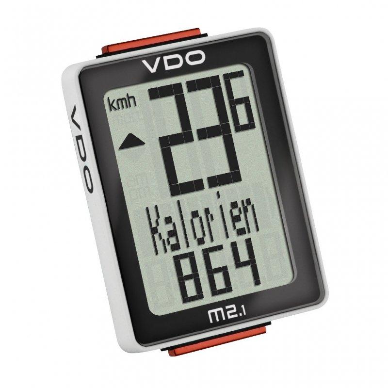 Велокомпьютер VDO M2.1 9 функций, 3-строчный дисплей, черно-белый