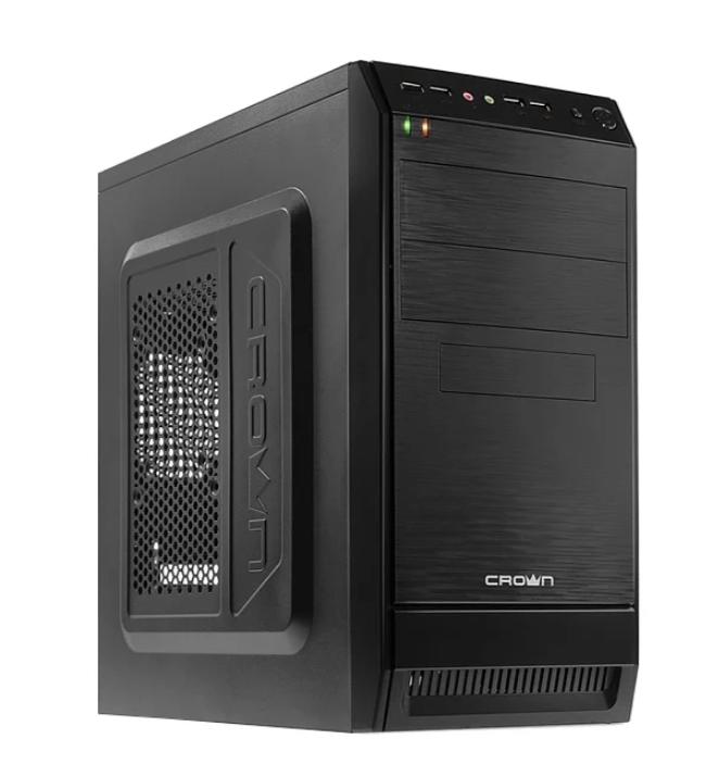 Компьютер ТоргПК Office 085614 (Intel Pentium G5400 3700МГц/Intel H310/8Гб DDR4 2666МГц/60Гб SSD/DVD-нет/Intel HD Graphics/CROWN CMC-400 450W Black/DOS)