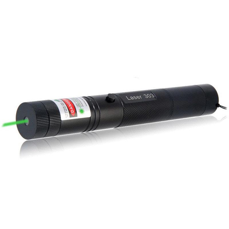 Лазерная указка (зеленая), 200 мВт, с ключом/выключателем
