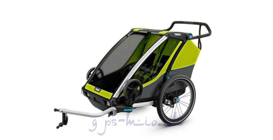 Детская мультиспортивная коляска Thule Chariot Cab2, Chartreuse для 2 детей