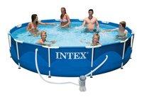 Каркасный бассейн Intex Metal Frame 28212NP/56996 366х76 см + фильтр-насос, картриджный фильтр