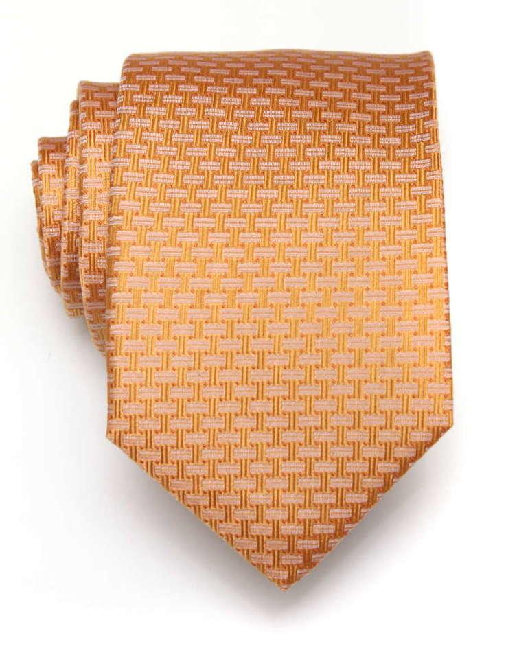 Красивый переливающийся оранжево-желтый галстук ClubSeta 7960