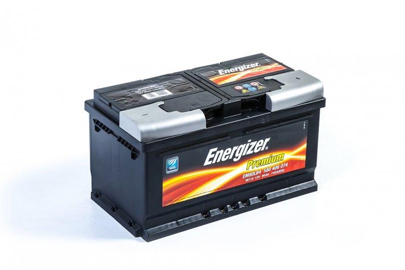 Аккумулятор ENERGIZER Premium EM80-LB4 580 406 074 обратная полярность 80 Ач
