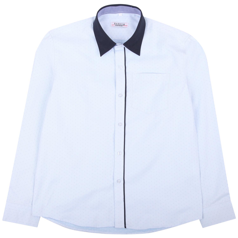 Рубашка GX228 цвет: голубой, для мальчиков, размер 134