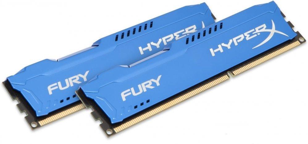 Оперативная память Kingston HyperX FURY Blue 16GB DDR3 1866Mhz DIMM (HX318C10FK2/16)