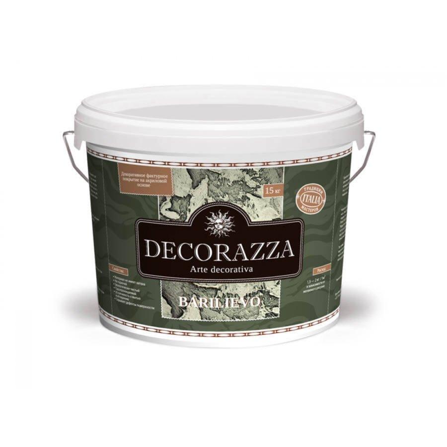 Декоративное фактурное покрытие Decorazza BARILIEVO (БАРИЛЬЕВО) 4кг с многообразием декоративных эффектов
