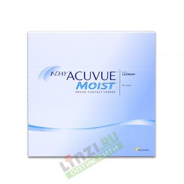 Контактные линзы Acuvue 1-Day Moist (90 линз)