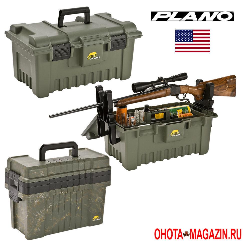 Ящик-подставка для чистки оружия и хранения снаряжения для охоты PLANO ShooterS Case