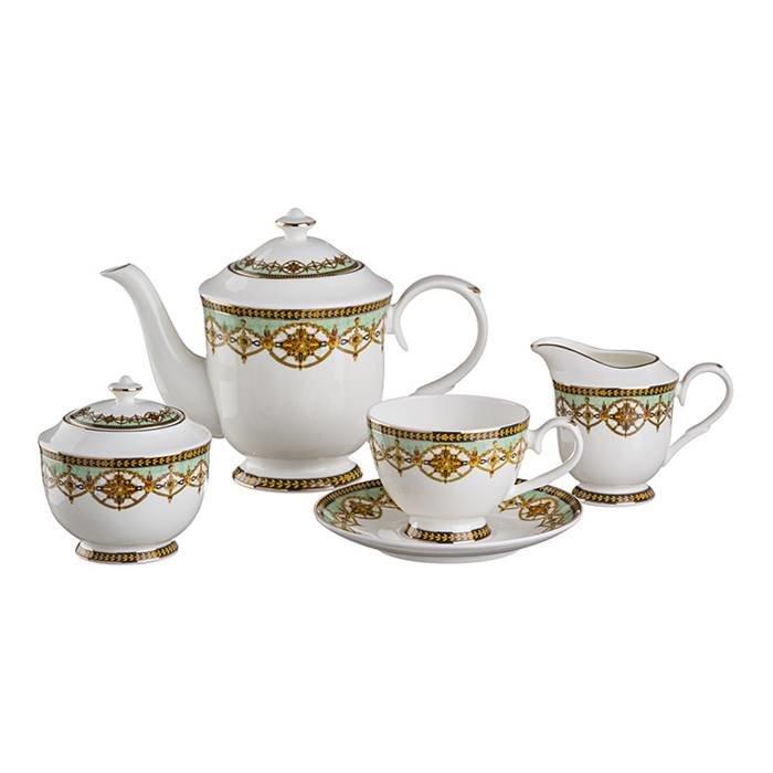 """Чайный сервиз Lefard 264-623 чайный сервиз """"амаль"""" на 6 персон 15 пр.1000/250 мл. фарфор"""