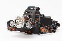 Налобный аккумуляторный светодиодный фонарь RJ-3000 (HL-003 T6) с регулировкой угла свечения