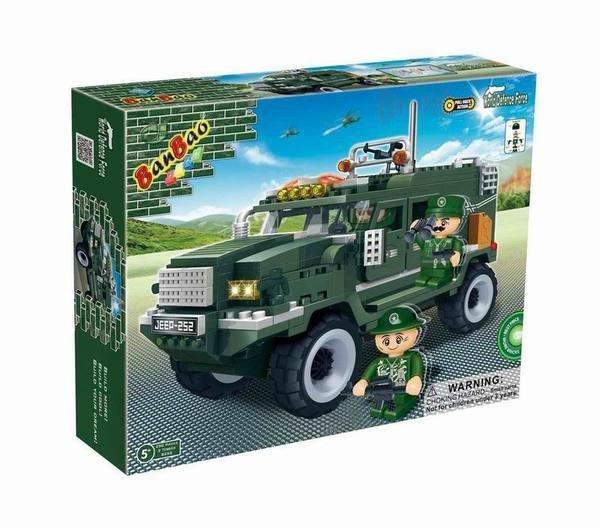 Конструктор *Военный джип* 287 деталей Banbao (Банбао) - 8252пц