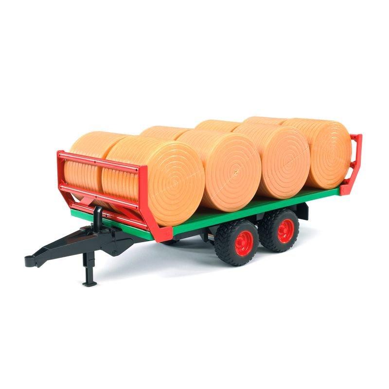 Прицеп для перевозки рулонов сена с 8 рулонами