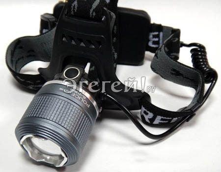 Налобный аккумуляторный светодиодный фонарь BL- 2199-2 Cree ZOOM