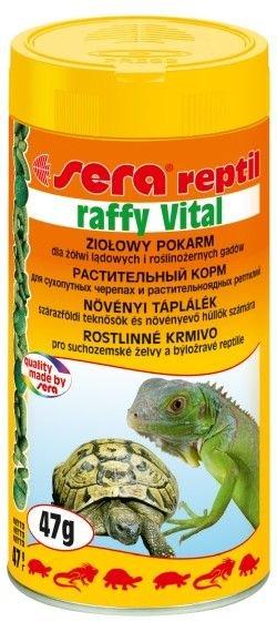 Корм Sera Raffy Vital для растительноядных рептилий (сухопутных черепах, игуан) в гранулах 250 мл (250 мл)