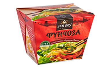Фунчоза под японским соусом с пастой мисо и водорослями вакаме Sen Soy, 125 г