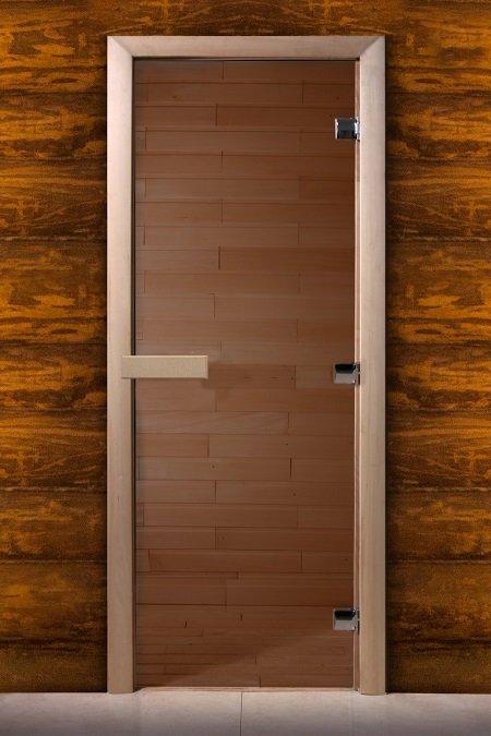 Дверь для сауны Maestro woods бронза 600х1900