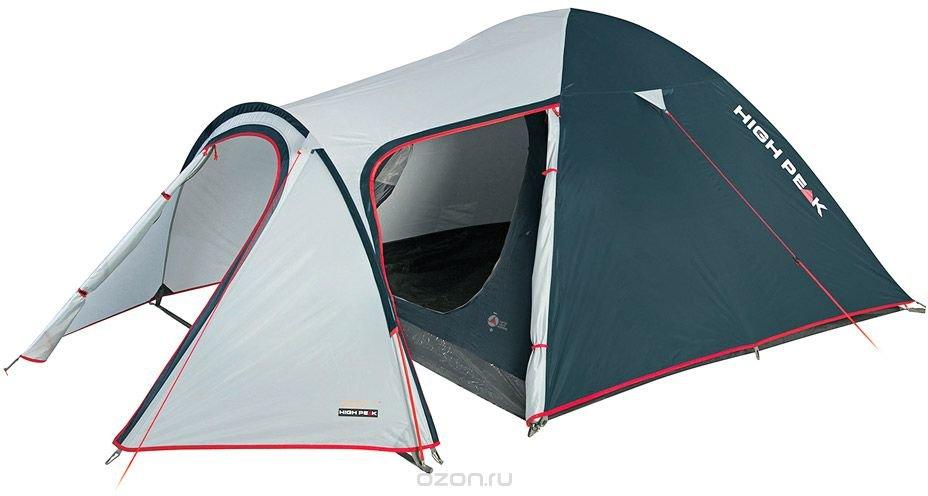"""Палатка High Peak """"Kira 4"""", цвет: светло-серый, темно-серый, 340 х 240 х 130 см. 10216"""