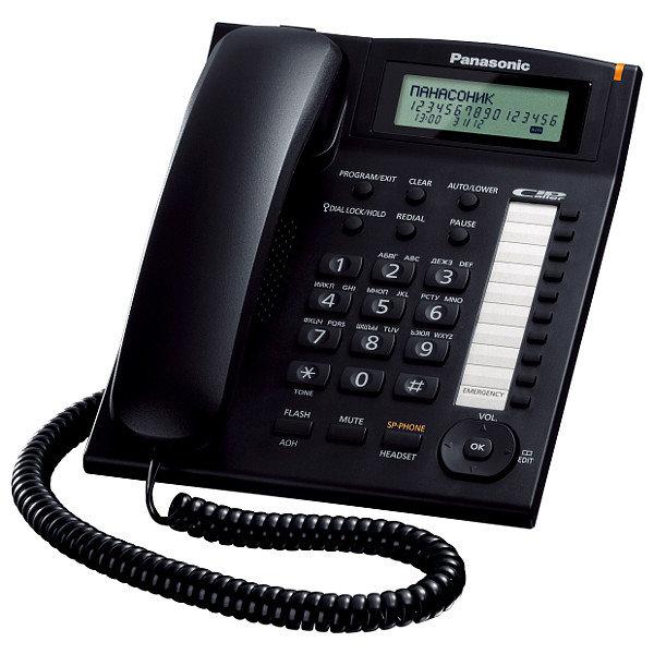 Телефон проводной Panasonic KX-TS2388RUB чёрный