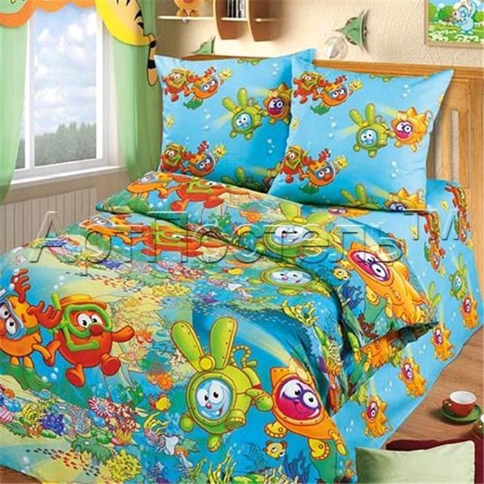 Комплект детского постельного белья (1,5 спальное) Арт-Постель 140 арт. Смешарики «Под водой»