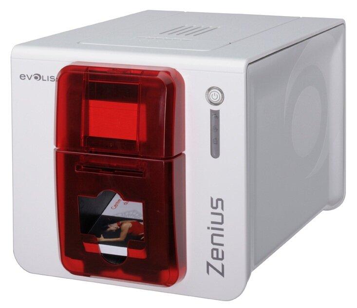 Принтер пластиковых карт Evolis Zenius (ZN1U0000RS), принтер пластиковых карт