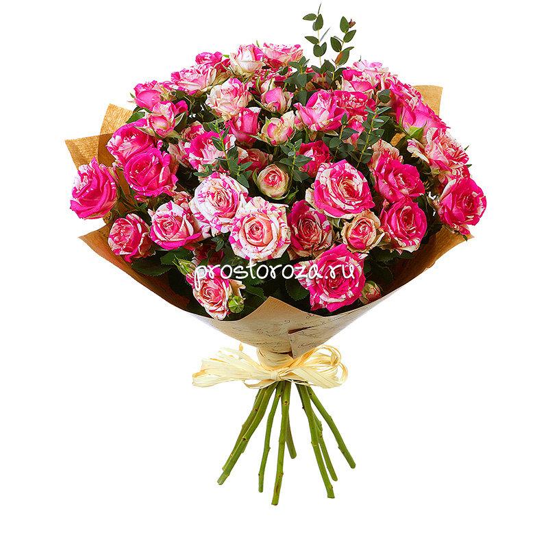 Склад цветы, букеты из кустовых маленьких роз