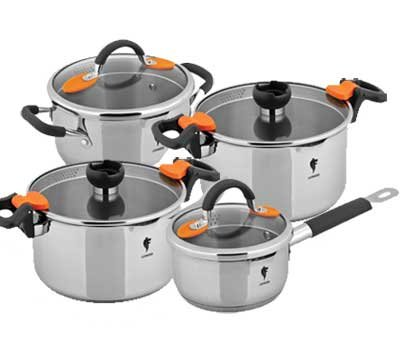 Набор посуды Mallony Leonord optimal-set-8/3 набор посуды из нерж.стали