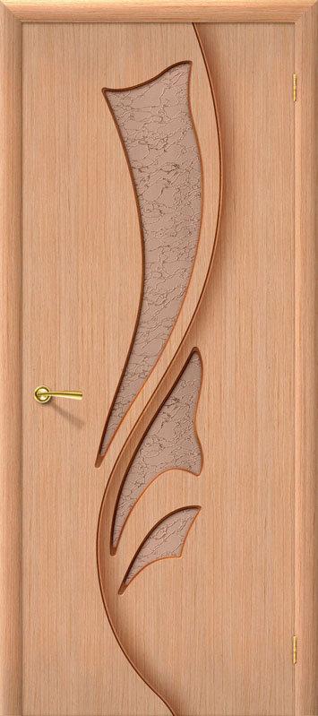 Межкомнатная дверь Браво Эксклюзив со стеклом дуб шпонированная, Со стеклом / 700x2000 / Полотно