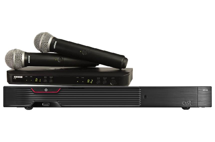 Караоке AST-250 с микрофонами SHURE BLX288E/SM58